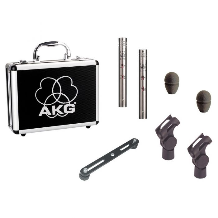 AKG C451 B Small Diaphragm Condenser Microphone Matched Pair Contents
