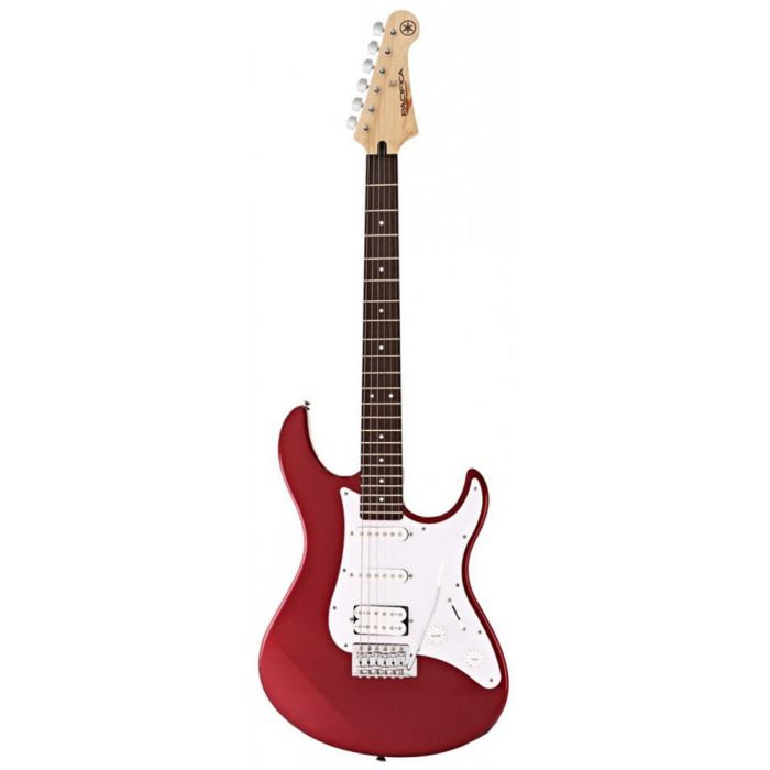 Front view of a Yamaha Pacifica 012 in Red Metallic