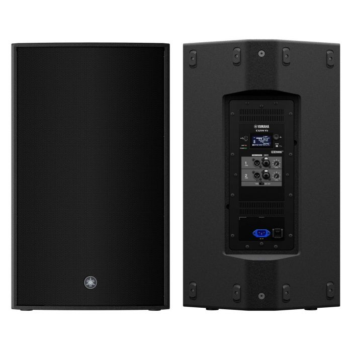 Front and Back of Yamaha DZR15 Active Loudspeaker Pair