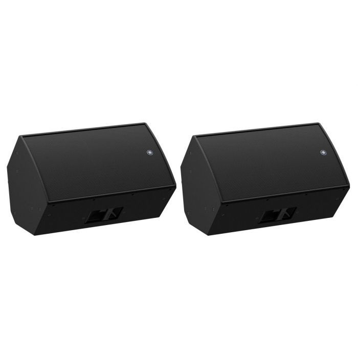 Yamaha DZR15 Active Loudspeaker Pair On Their Sides, Side by Side