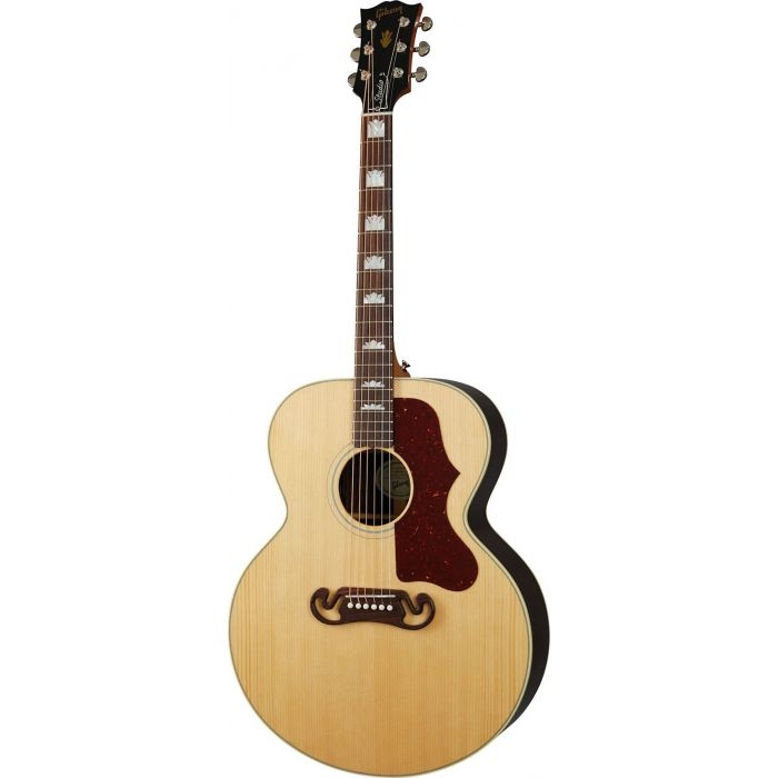 Front view of a Gibson SJ-200 Studio Rosewood Antique Natural
