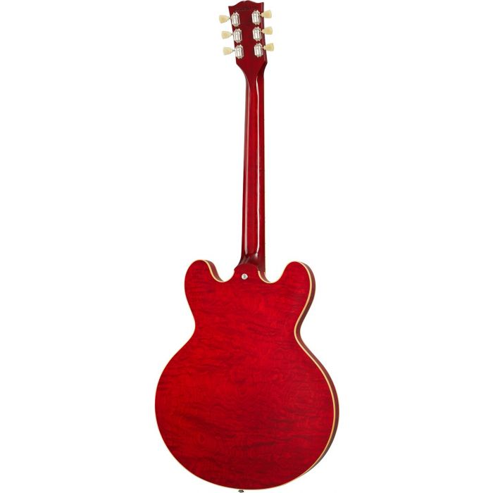 Gibson ES-339 Figured Electric Guitar, Sixties Cherry seen from the rear