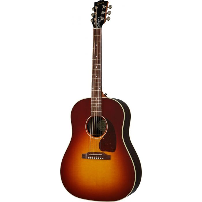 Gibson J-45 Studio Rosewood Rosewood Burst viewed from the front