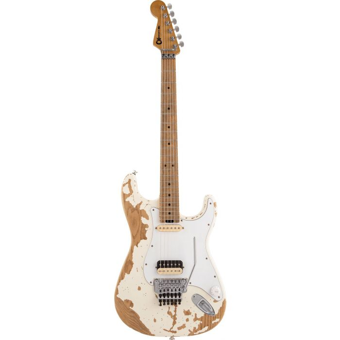 Charvel Henrik Danhage Ltd Edition Pro-Mod So-Cal Style 1 White Relic viewed from the front