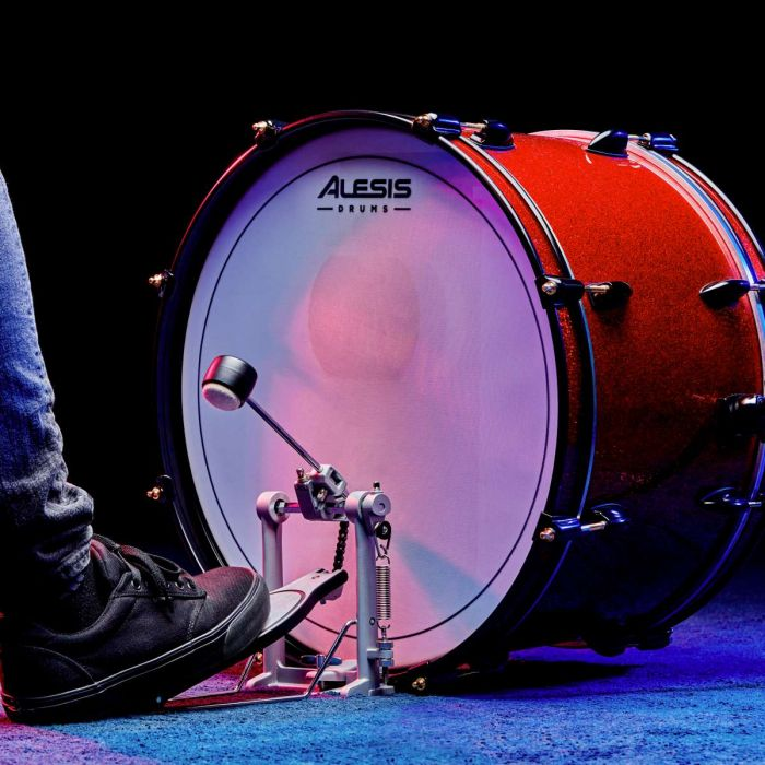 Alesis KP1 Bass Drum Pedal In Use