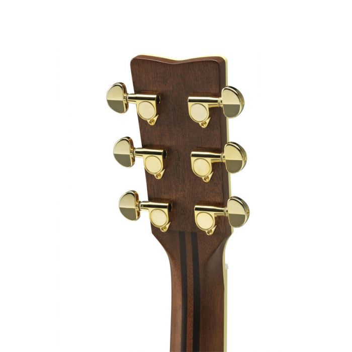 Close up of the back of the headstock on the Yamaha LJ6 ARE Electro Acoustic Natural