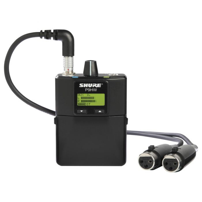 Shure P9HW Wired Bodypack Receiver Front