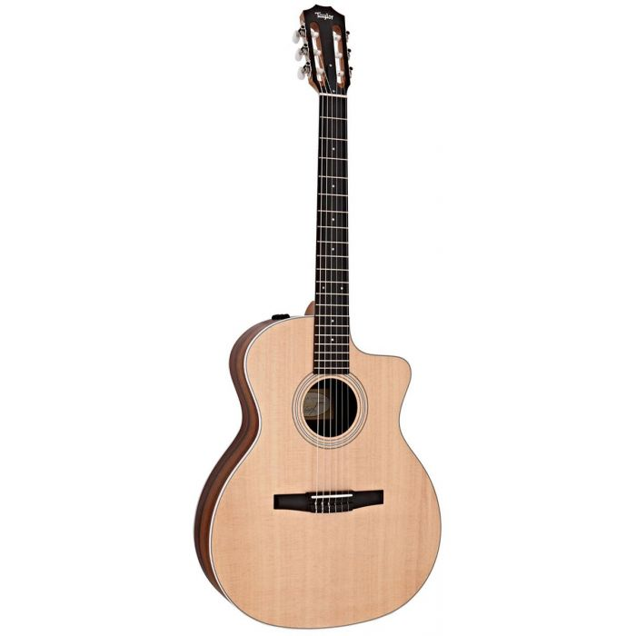 Taylor 214ce-N Nylon String Guitar, Natural front view