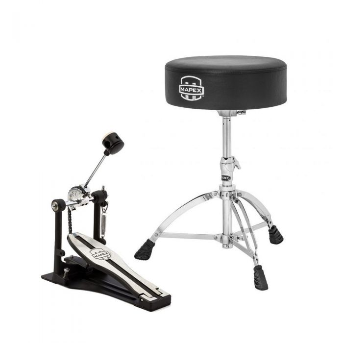 Mapex Throne and Kick Pedal Bundle full view