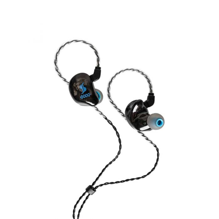 Stagg SPM-435 4 Driver In-Ear Stage Monitor Black open view