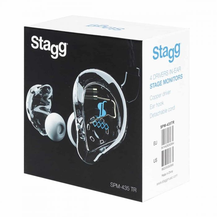 Boxed Stagg SPM-435 4 Driver In-Ear Stage Monitor In-Ear Transparent
