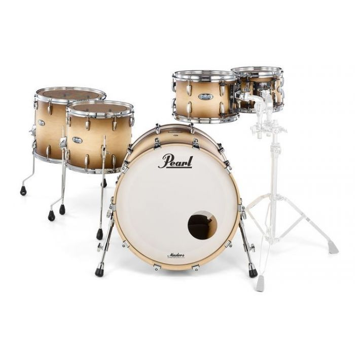 Pearl Masters MCT 5pc Pk, Natural Burst Front