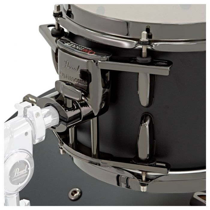 Pearl Masters Maple Reserve 4-Piece Shell Pack in Solid Matte Black Suspension