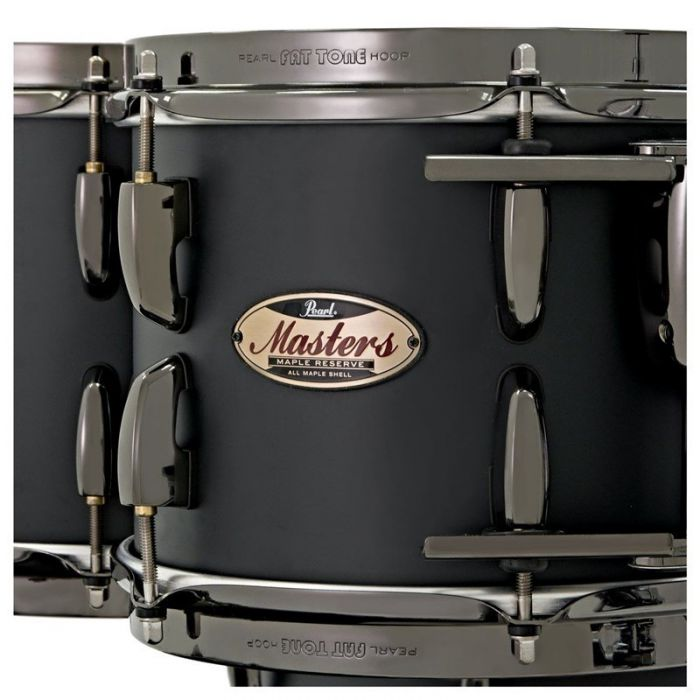 Pearl Masters Maple Reserve 4-Piece Shell Pack in Solid Matte Black Shell Zoom