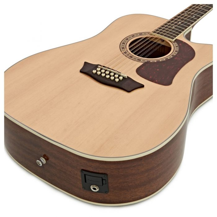 Washburn HD10SCE-12 Str Acoustic Natural Angle Right Side
