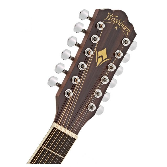 Washburn HD10SCE-12 Str Acoustic Natural Headstock