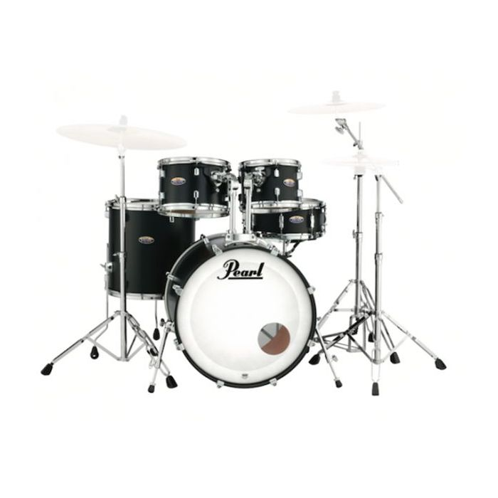 Pearl Decade Maple 5-Piece Shell Pack 22 in, Satin Slate Black front view
