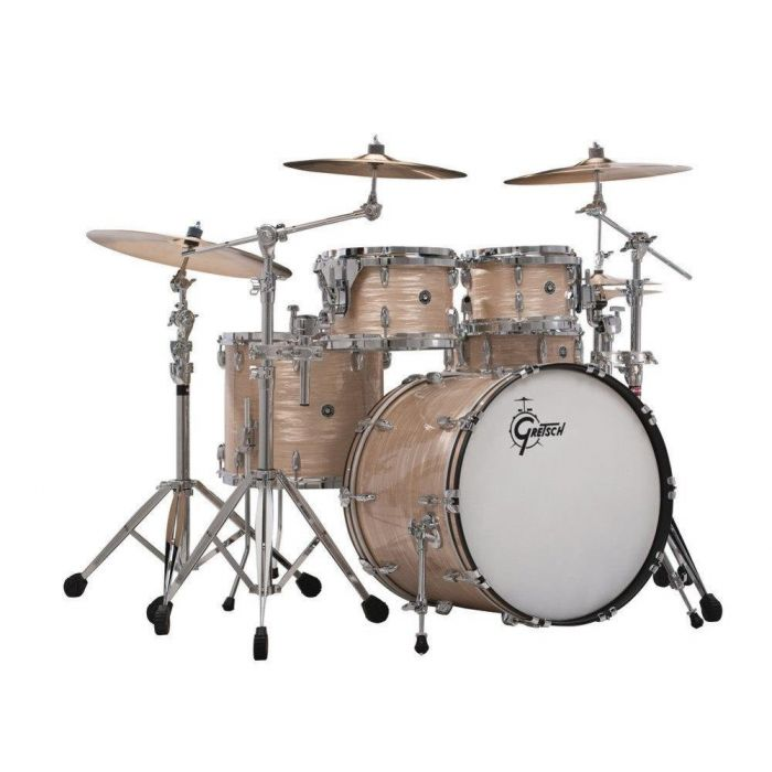 Gretsch USA Brooklyn 4 Piece Shell Pack, Cream Oyster Full Kit