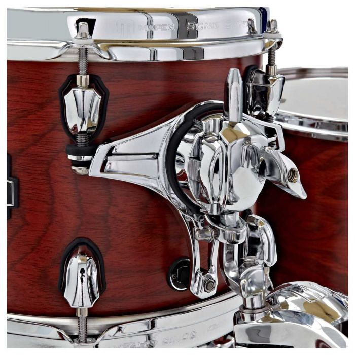 Hardware close up on the Mapex 30th Anniversary 5pc Kit Maple Garnet Flame
