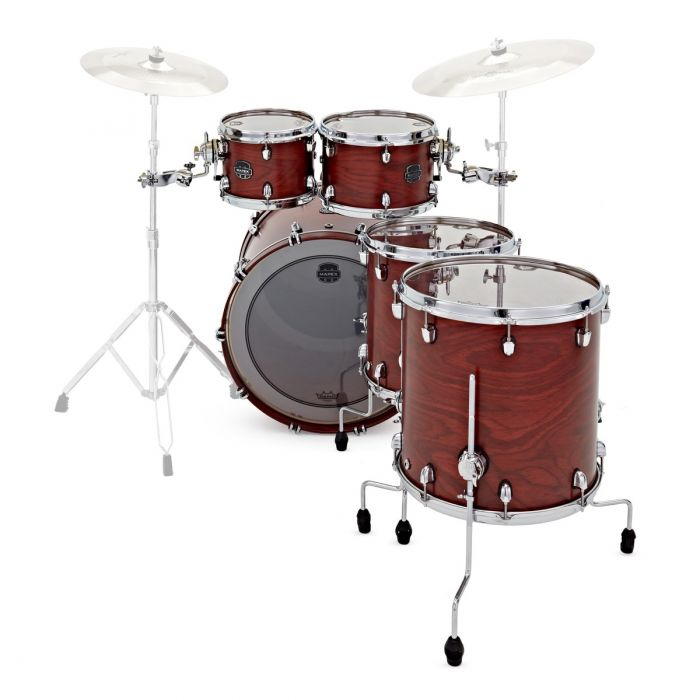 Back vierw of the Mapex 30th Anniversary 5pc Kit Maple Garnet Flame