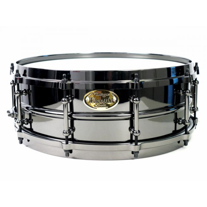 "World Max 14"" X 5"" Brass Black Snare Drum"