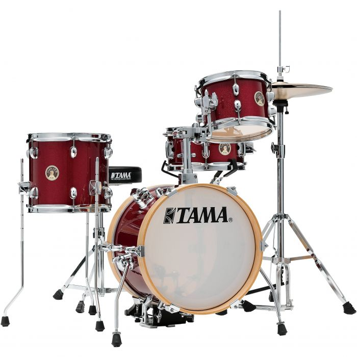 Overview of the Tama Club Jam Flyer 4 Piece Shell Pack Candy Apple Mist w/ Hardware