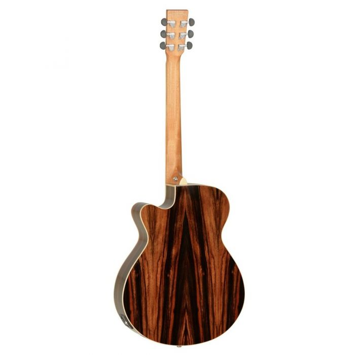 Backview of the Tanglewood DBT SFCE AEB Discovery Folk Electro Acoustic Ebony
