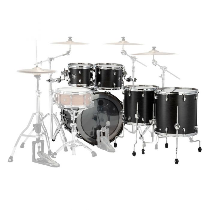 Back view of the Mapex Saturn 22-Inch 5pc Shell Pack Satin Black