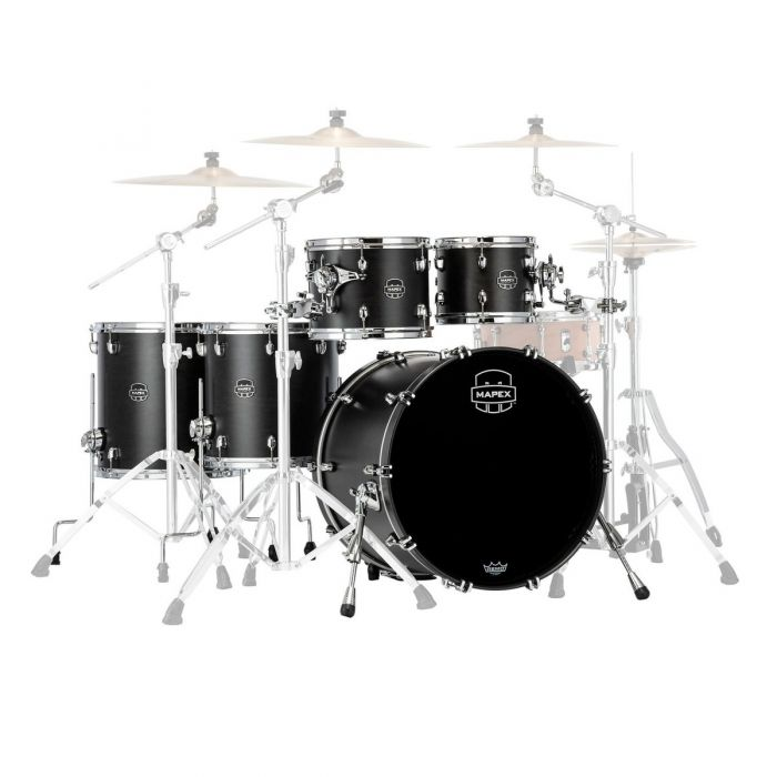 Overview of the Mapex Saturn 22-Inch 5pc Shell Pack Satin Black
