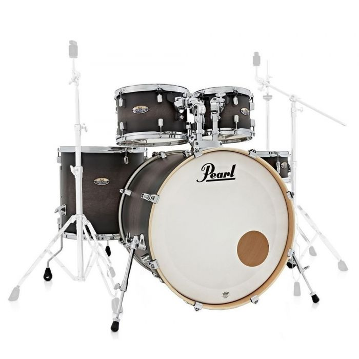 Pearl Decade Maple Fusion Shell Pack, Satin Black Burst front view