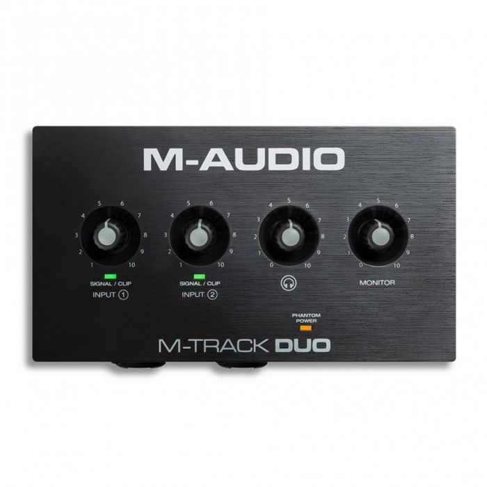 M-Audio M-Track Duo 2-channel USB Audio Interface Top