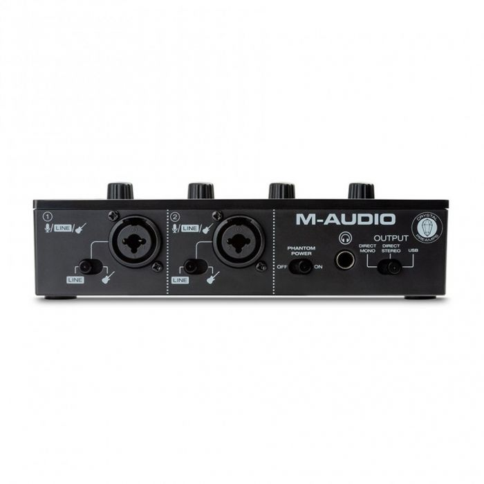 M-Audio M-Track Duo 2-channel USB Audio Interface Face