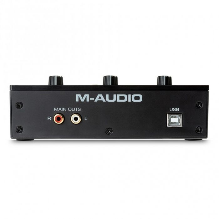 Back view of the M-Audio M-Track Solo 2-channel USB Audio Interface
