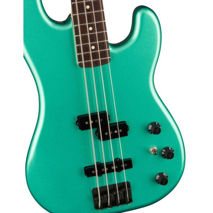 Fender Boxer PJ Bass RW Sherwood Green Metallic Detail