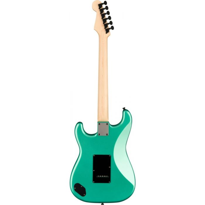 Back view of the Fender Boxer Series Stratocaster HH RW Sherwood Green Metallic