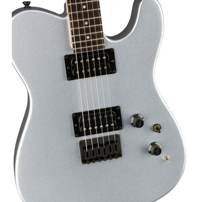 Body close up on the Fender Boxer Series Telecaster HH RW Inca Silver