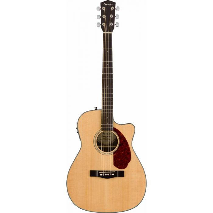Overview of the Fender CC-140SCE Concert Acoustic Guitar Natural w/case