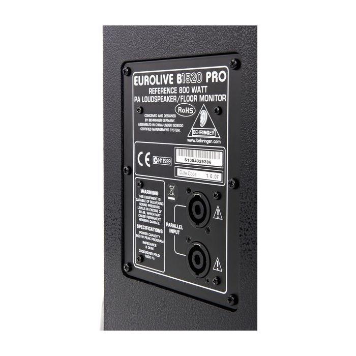Behringer B1520PRO Eurolive PRO 800W 1X15 PA Speaker Rear