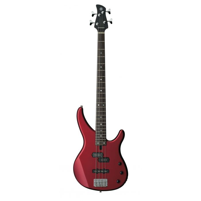 Overview of the Yamaha TRBX174 Bass Guitar in Red Metallic