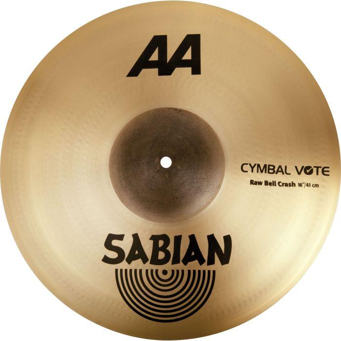 """Sabian AA 16"""" Raw Bell Crash Cymbal"""