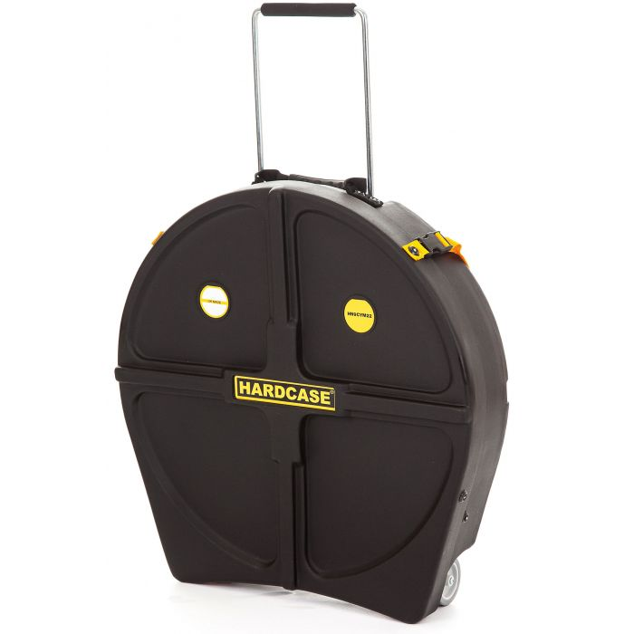 """Hardcase 22"""" Cymbal Case with 8 Dividers in Black"""