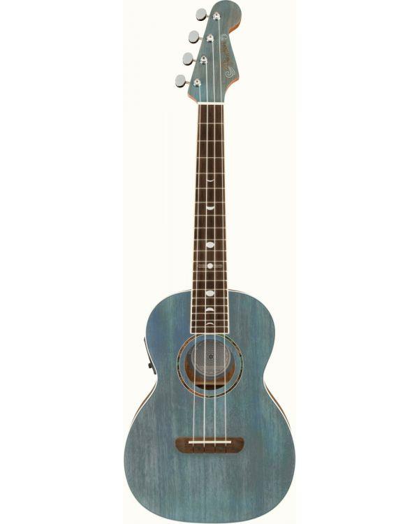 Fender Dani Harrison Uke Walnut FB, Turquoise