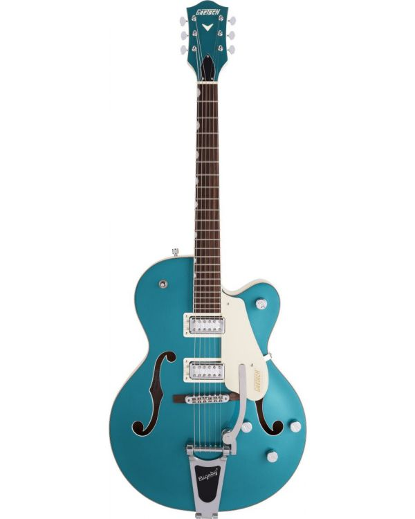 Gretsch Electromatic Ltd G5410T Tri-Five Hollow Body with Bigsby 2 Tone Ocean Turquoise on Vintage White