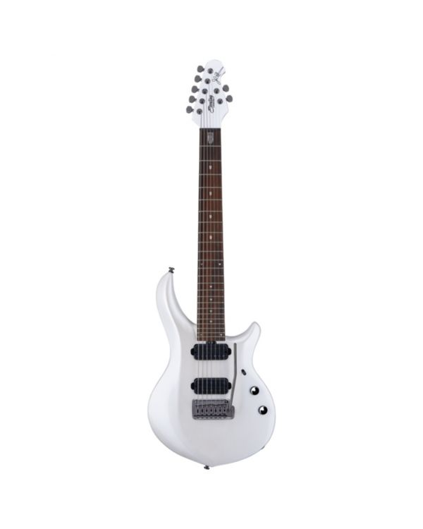 Sterling By Music Man Majesty 7-String Guitar, Pearl White Mahogany