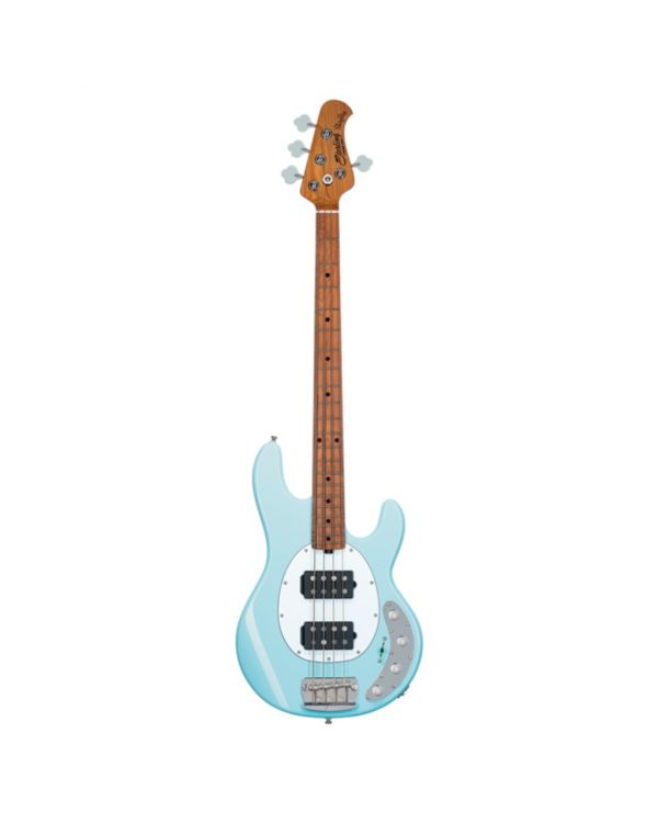 Sterling By Music Man Stingray 4-String Bass, HH Daphne Blue MN