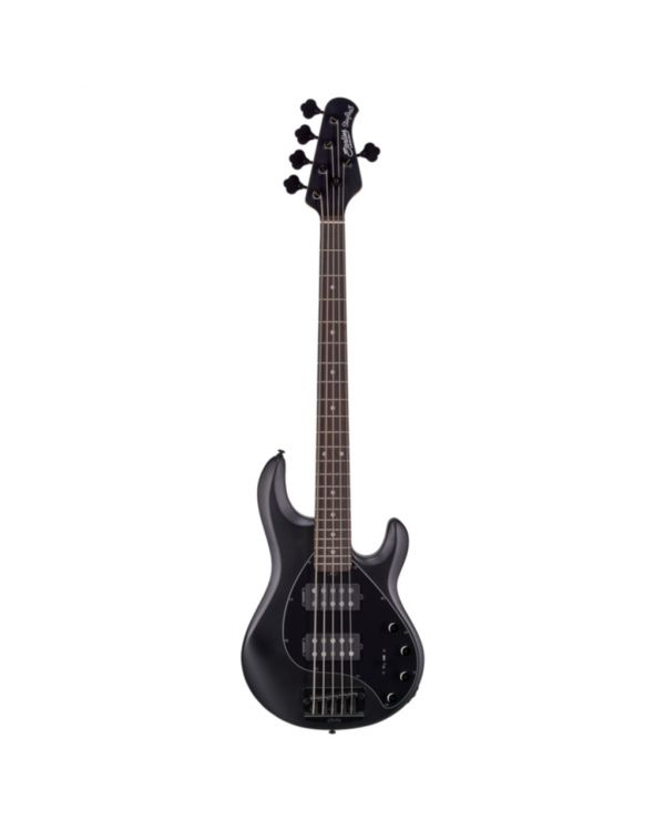 Sterling By Music Man Stingray 5-String Bass, HH Stealth Black RN