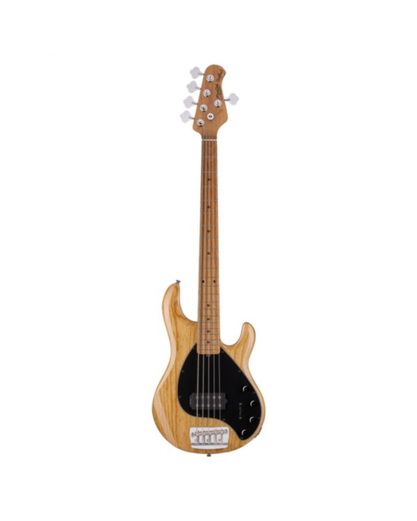 Sterling By Music Man Stingray 5-String Bass, Ashwood Natural MN