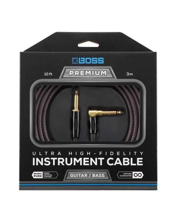 Boss BIC-P10A Premium Instrument Cable 10 ft Angled
