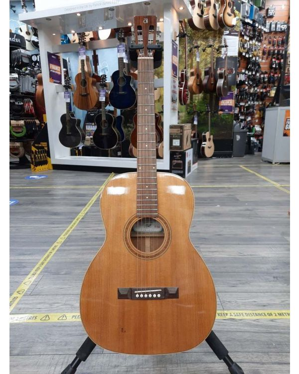 Pre-Loved Ayers Solid Wood CSM Parlor Acoustic Guitar, Natural