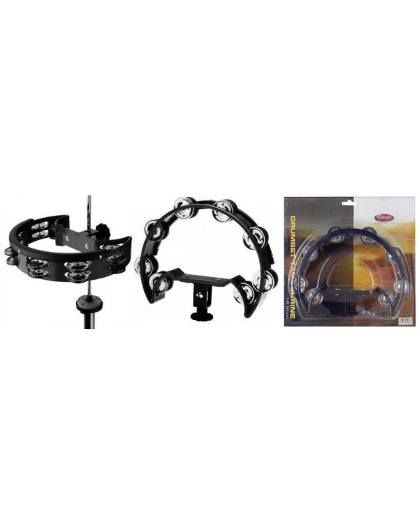 Stagg 1/2 Moon Drumset Tambourine Black